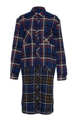 Band Of Outsiders Kansas Vintage Shirt Dress Navy