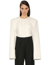 Jil Sander Oversized Shoulders Nappa Leather Top