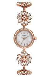 Kate Spade Women's New York Daisy Chain Crystal Watch 20Mm Rose Gold Mop Rose Gold