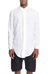 Men's Chapter Trim Fit Elongated Woven Shirt