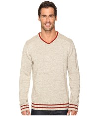 Smartwool Larimer V Neck Top Oatmeal Heather Men's Long Sleeve Pullover Beige
