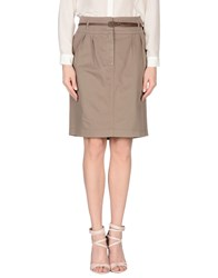 Fabiana Filippi Skirts Knee Length Skirts Women Khaki