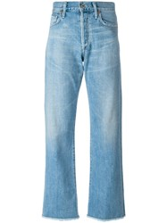 Citizens Of Humanity Cropped Trousers Blue
