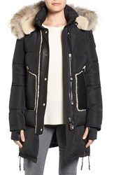 Rudsak Women's Quilted Down Coat With Genuine Fur And Shearling Trim