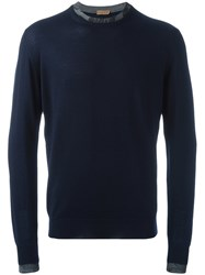 Etro Crew Neck Sweater Blue