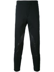Alexander Mcqueen Panelled Track Pants Men Cotton Polyester S Black
