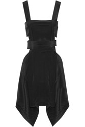 Isabel Marant Oury Cutout Silk Crepe De Chine Mini Dress Black
