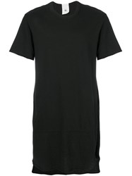 Lost And Found Rooms Over Longline T Shirt Men Cotton L Black