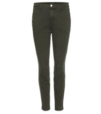 J Brand Zion Mid Rise Skinny Jeans Green