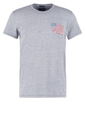 Abercrombie And Fitch Muscle Fit Print Tshirt Grey