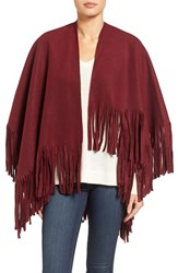 La Fiorentina Women's Fringe Fleece Wrap Red
