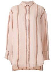 Osklen Striped Oversized Shirt Pink