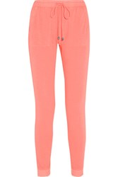 Splendid Vista Active Slub Supima Cotton Jersey Track Pants Papaya