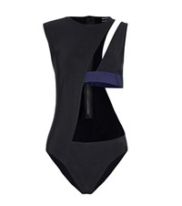 Anthony Vaccarello Cut Out Swimsuit Black