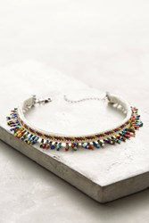 Anthropologie Willa Beaded Choker Necklace Blue