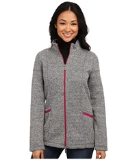 Hatley Mock Neck Jacket Charcoal Sherpa Women's Jacket Gray