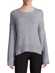 Elizabeth And James Harris A Line Rib Knit Sweater Heather Grey