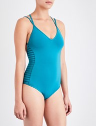 Jets By Jessika Allen Parallels V Neck Swimsuit Petrol