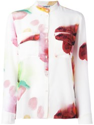Cacharel Blurry Print Shirt White