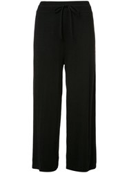 Vince Ribbed Trim Track Pants Black