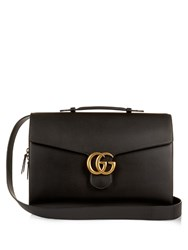 Gucci Gg Leather Briefcase Black