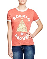 Wildfox Couture Wildfox Rockin Around Tee Holiday Red Vintage Lace