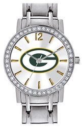 Game Time 'Nfl All Star Green Bay Packers' Crystal Bezel Bracelet Watch 32Mm