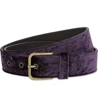 Dries Van Noten Velvet Belt Purple