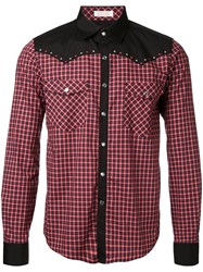 Education From Youngmachines Checked Shirt Red