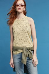 Anthropologie Honey Floral Tank Top Yellow