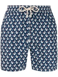 Mc2 Saint Barth Chicken Print Swim Shorts Blue