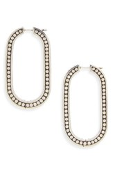 John Hardy Women's Dot Large Link Earrings Silver
