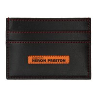 Heron Preston Black Style Flat Card Holder