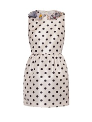 Red Valentino Polka Dot Satin Dress
