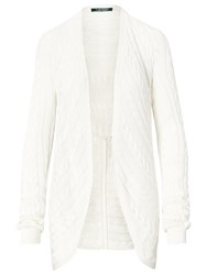 Lauren Ralph Lauren Cable Knit Open Front Cardigan Herbal Milk