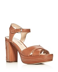 Via Spiga Brianna Crisscross High Heel Platform Sandals Light Taupe