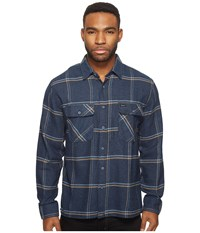 Brixton Archie Long Sleeve Flannel Navy Men's Long Sleeve Button Up