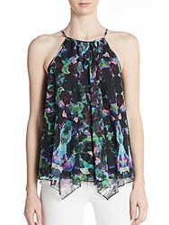 Milly Orchid Print Halter Top Multi