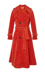 Rejina Pyo Kirsten Corduroy Trench Coat Orange