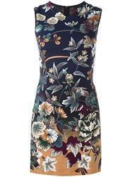Kenzo Vintage Floral Print Dress Blue