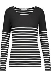 Kain Label Hunting Striped Stretch Jersey Top Black