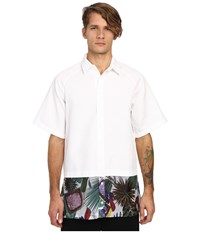 Dbyd Flower Print Oversized Shirt White Men's Long Sleeve Button Up