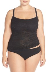 Plus Size Women's Cosabella 'Never Say Never' Lace Front Camisole Black