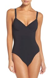 Tory Burch Women's Ruffle Underwire One Piece Swimsuit
