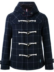 Guild Prime Checked Duffle Coat Blue