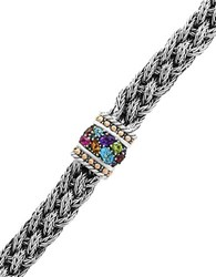 Effy Amethyst Blue Topaz Citrine Garnet Pink Tourmaline And 18K Rose Gold Safety Lock Bracelet Silver