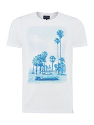 Criminal Palm Trees Graphic Tshirt White