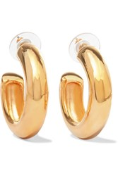 Kenneth Jay Lane Gold Plated Hoop Earrings One Size