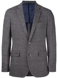 Hackett Classic Checked Blazer Brown