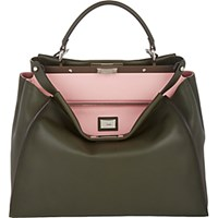Fendi Women's Peekaboo Large Satchel Dark Green